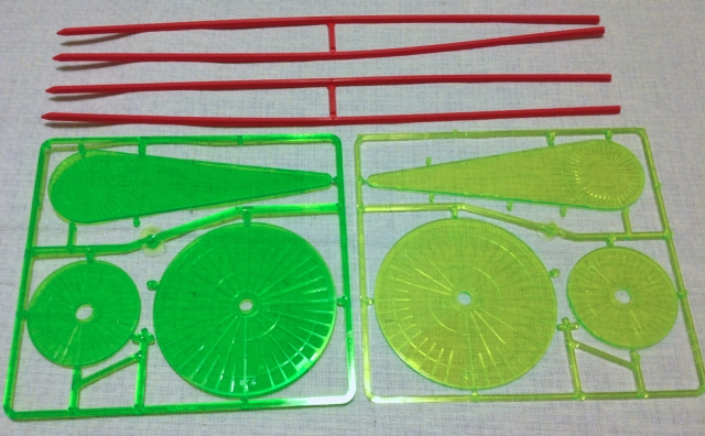 The accessories are largely unchanged except for a coloration difference in the templates.  The DV template (left) is more saturated than the ABR template (right.)